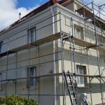 Fassadenrenovierung Anstrichsystem  eigenes Gerüst