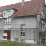 Renovierung u. Schutzanstrich Holzfassade eigenes Gerüst