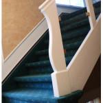 Treppenverkleidung mit  Teppichoden