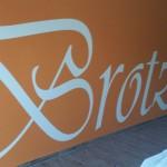 Wandbeschriftung Ladenbereich