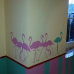 Kinderzimmer Sockel und Wandgestaltung