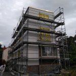 Bauhaus Renovierung nach historischen Vorbild / feiner Filzputz